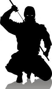 I Samurai Alla Luce Di Un Tramonto Della Sera