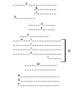 schema lettera